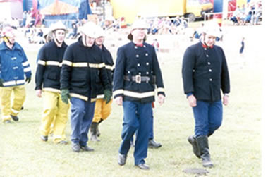 Different uniforms of the fire services this century.